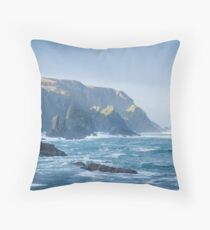 Cliffs at Port, Glencolmcille Throw Pillow