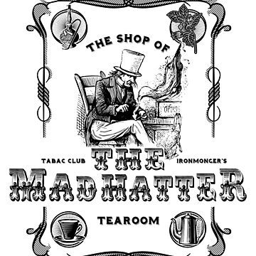 The Mad Hatter, the hatter, le chapelier fou, Alice in Wonderland, printmaking, by KokoBlacsquare