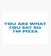 Funny Pizza T-Shirt Photographic Print