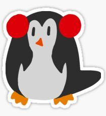 Earmuffs Penguin Sticker
