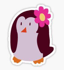 Flower Penguin Sticker