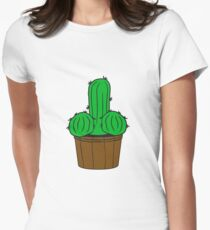 flowerpot penis willie cock fuck poppen sex funny form eggs party date cacti Women's Fitted T-Shirt
