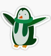 Green Penguin Sticker