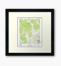 USGS TOPO Map Alabama doran cove al-tn histmap Framed Print