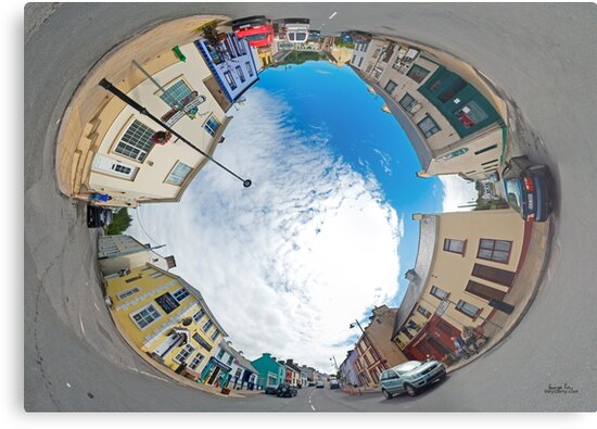 Kilcar Crossroads - Sky in by George Row