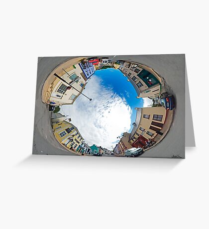 Kilcar Crossroads - Sky in Greeting Card