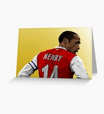 Thierry Henry - Arsenal Greeting Card
