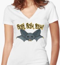 BLEH, BLEH, BLEH! Women's Fitted V-Neck T-Shirt