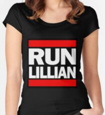 Unbreakable Kimmy Schmidt Inspired Rap Mashup - RUN Lillian - UKS Shirt - Females are Strong as Hell Parody Shirt Women's Fitted Scoop T-Shirt