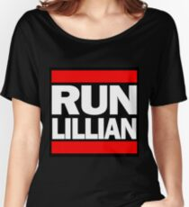 Unbreakable Kimmy Schmidt Inspired Rap Mashup - RUN Lillian - UKS Shirt - Females are Strong as Hell Parody Shirt Women's Relaxed Fit T-Shirt