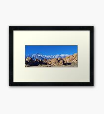 A Mt. Whitney picture Framed Print
