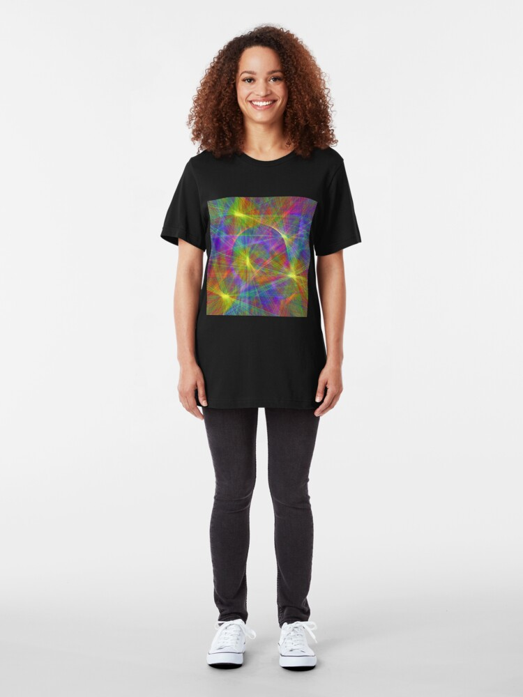 Alternate view of Disco stage lights Slim Fit T-Shirt