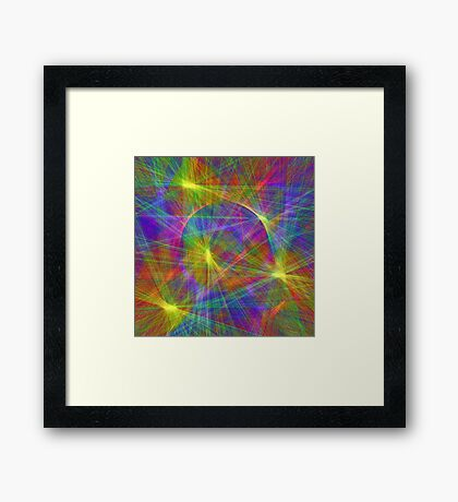 Disco stage lights Framed Print
