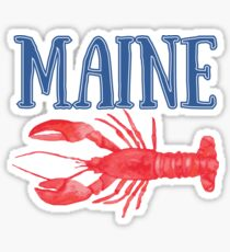 Maine Watercolor Lobster - Maine Lobster Sticker