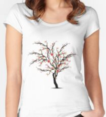 Cherry Blossom Tree Women's Fitted Scoop T-Shirt