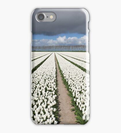 Tulips before the storm iPhone Case/Skin