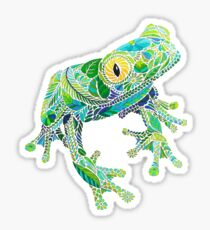 Stained Glass Frog Sticker