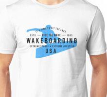 Ride The Wake Wakeboarding Unisex T-Shirt