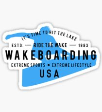 Ride The Wake Wakeboarding Sticker
