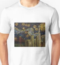 Dedication to Van Gogh: San Francisco Starry Night T-Shirt