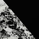 Diagonal Black - Block black and black and white abstract by Printpix