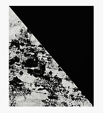 Diagonal Black - Block black and black and white abstract Photographic Print