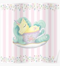 Tea With a Unicorn Poster