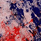 Hot And Cold - Textured Abstract In Blue And Red by Printpix