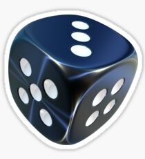 Lucky shiny dice Sticker
