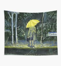 Yellow umbrella part 2 Wall Tapestry