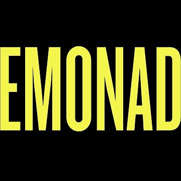 Lemonade Beyonce typography by theZdesign