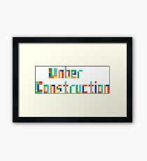 Under construction Framed Print