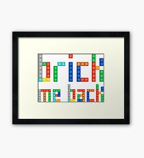 Brick me back Framed Print