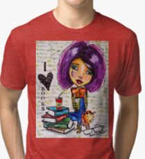 I Love Books 2 Tri-blend T-Shirt