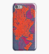 Map Composition. Red And Blue Neon Pattern iPhone Case/Skin