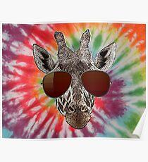 trippin giraffe Poster