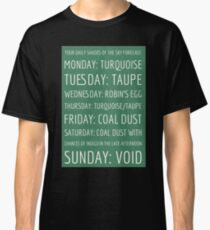 Daily Shades of the Sky Forecast Classic T-Shirt