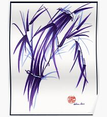 AURA - Orignal Spiritual Zen Bamboo painting Poster