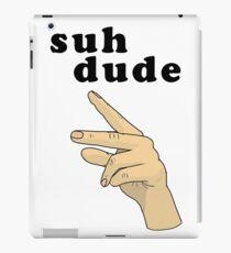 Suh Dude meme   Black Letters iPad Case/Skin