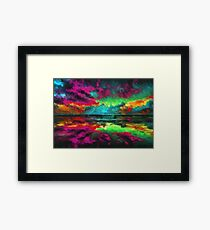 Twilight Reflections Dusk sunset Framed Print