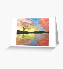 Sunset- Tree Greeting Card