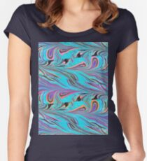 Blushing Peacock Flattery Women's Fitted Scoop T-Shirt