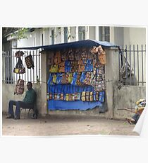 Roadside vendor in Brazzaville, Congo - 2012 Poster