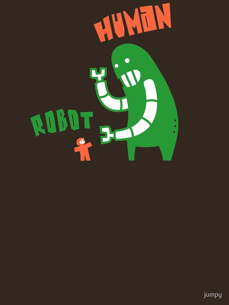 Robot v Human by jumpy
