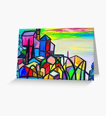 Rainbow Houses Greeting Card