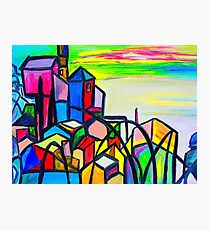 Rainbow Houses Photographic Print