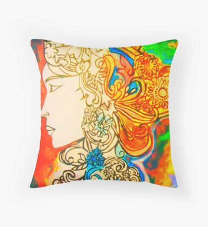 Etched in Lace Throw Pillow