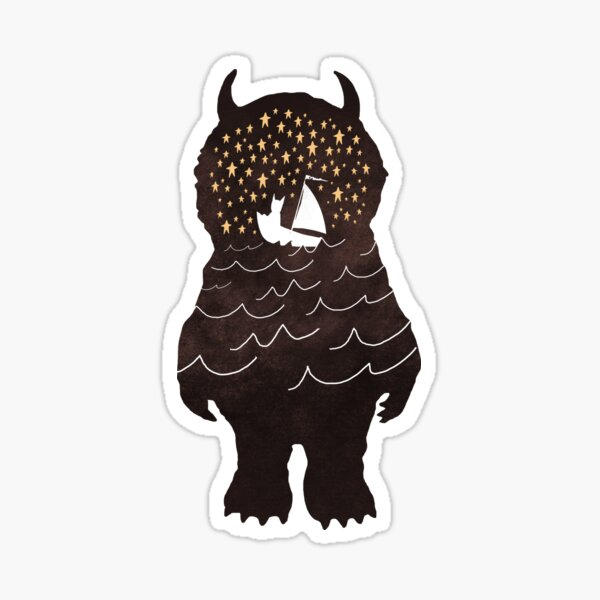 And Into The Night Sticker