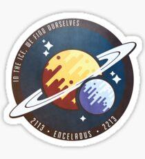 Enceladus Mission Crew Badge Sticker