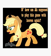 Applejack Gamer Photographic Print